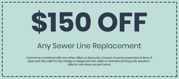 Discounts on Any Sewer Line Replacement