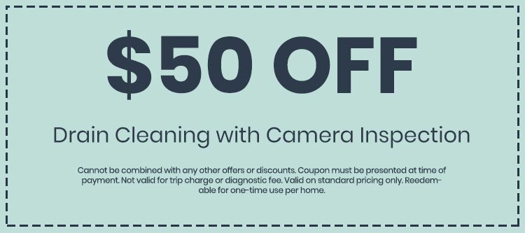Discounts on Drain Cleaning with Camera Inspection